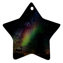 Starry Sky Galaxy Star Milky Way Star Ornament (Two Sides)