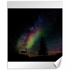 Starry Sky Galaxy Star Milky Way Canvas 11  x 14