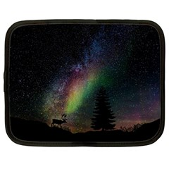 Starry Sky Galaxy Star Milky Way Netbook Case (Large)