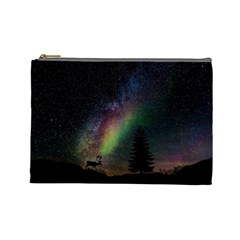 Starry Sky Galaxy Star Milky Way Cosmetic Bag (Large)