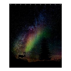 Starry Sky Galaxy Star Milky Way Shower Curtain 60  x 72  (Medium)