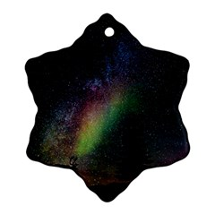 Starry Sky Galaxy Star Milky Way Snowflake Ornament (Two Sides)