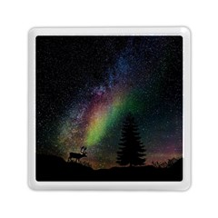 Starry Sky Galaxy Star Milky Way Memory Card Reader (Square)