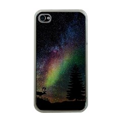 Starry Sky Galaxy Star Milky Way Apple iPhone 4 Case (Clear)