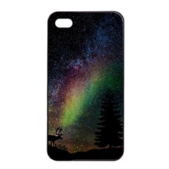 Starry Sky Galaxy Star Milky Way Apple iPhone 4/4s Seamless Case (Black)