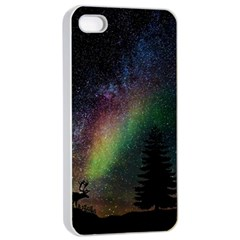 Starry Sky Galaxy Star Milky Way Apple iPhone 4/4s Seamless Case (White)