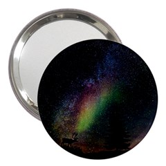 Starry Sky Galaxy Star Milky Way 3  Handbag Mirrors