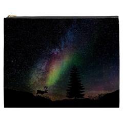 Starry Sky Galaxy Star Milky Way Cosmetic Bag (XXXL)
