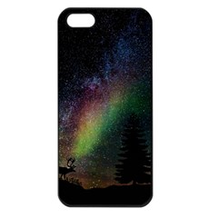Starry Sky Galaxy Star Milky Way Apple iPhone 5 Seamless Case (Black)