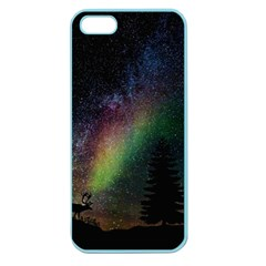 Starry Sky Galaxy Star Milky Way Apple Seamless Iphone 5 Case (color)