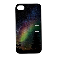 Starry Sky Galaxy Star Milky Way Apple iPhone 4/4S Hardshell Case with Stand