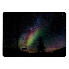 Starry Sky Galaxy Star Milky Way Samsung Galaxy Tab 10 1  P7500 Flip Case