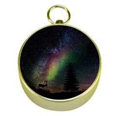 Starry Sky Galaxy Star Milky Way Gold Compasses
