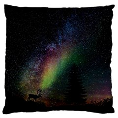Starry Sky Galaxy Star Milky Way Large Flano Cushion Case (One Side)
