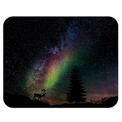 Starry Sky Galaxy Star Milky Way Double Sided Flano Blanket (Medium)