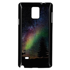 Starry Sky Galaxy Star Milky Way Samsung Galaxy Note 4 Case (black)