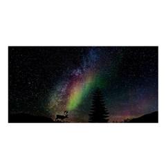 Starry Sky Galaxy Star Milky Way Satin Shawl