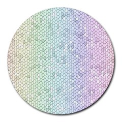 The Background Wallpaper Mosaic Round Mousepads