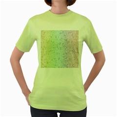 The Background Wallpaper Mosaic Women s Green T-Shirt