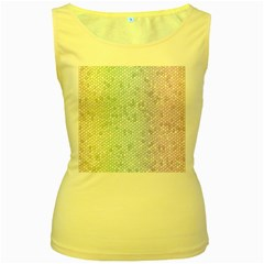 The Background Wallpaper Mosaic Women s Yellow Tank Top