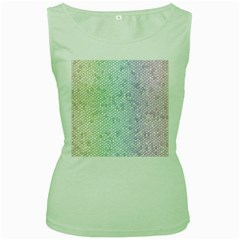 The Background Wallpaper Mosaic Women s Green Tank Top