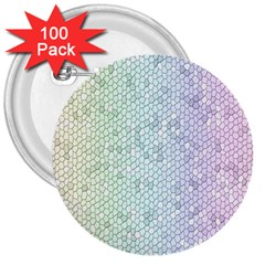 The Background Wallpaper Mosaic 3  Buttons (100 pack)