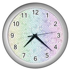 The Background Wallpaper Mosaic Wall Clocks (Silver)