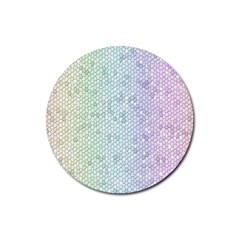 The Background Wallpaper Mosaic Rubber Coaster (Round)