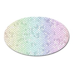 The Background Wallpaper Mosaic Oval Magnet
