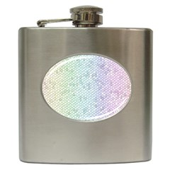 The Background Wallpaper Mosaic Hip Flask (6 oz)