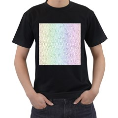 The Background Wallpaper Mosaic Men s T-Shirt (Black) (Two Sided)