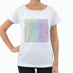 The Background Wallpaper Mosaic Women s Loose-Fit T-Shirt (White)