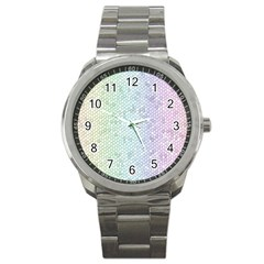 The Background Wallpaper Mosaic Sport Metal Watch