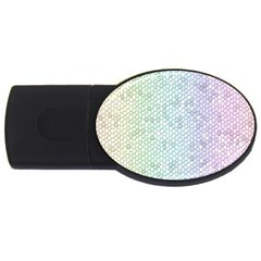 The Background Wallpaper Mosaic USB Flash Drive Oval (4 GB)