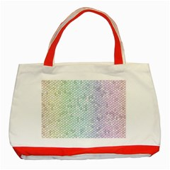 The Background Wallpaper Mosaic Classic Tote Bag (red)
