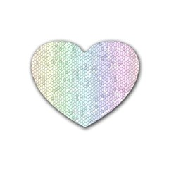 The Background Wallpaper Mosaic Heart Coaster (4 pack)