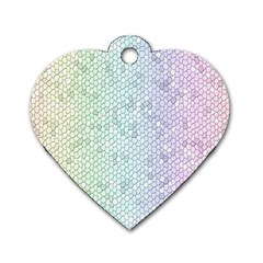 The Background Wallpaper Mosaic Dog Tag Heart (Two Sides)