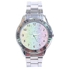 The Background Wallpaper Mosaic Stainless Steel Analogue Watch