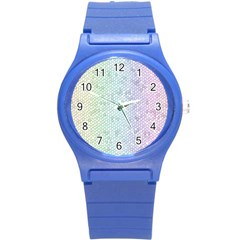 The Background Wallpaper Mosaic Round Plastic Sport Watch (s)