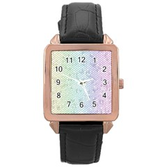 The Background Wallpaper Mosaic Rose Gold Leather Watch