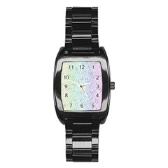 The Background Wallpaper Mosaic Stainless Steel Barrel Watch