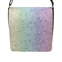 The Background Wallpaper Mosaic Flap Messenger Bag (L)