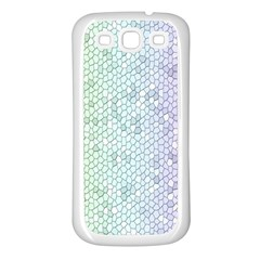 The Background Wallpaper Mosaic Samsung Galaxy S3 Back Case (White)