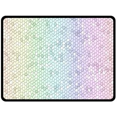 The Background Wallpaper Mosaic Double Sided Fleece Blanket (Large)