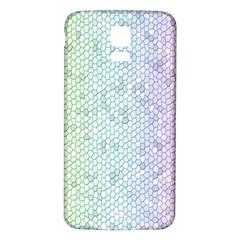 The Background Wallpaper Mosaic Samsung Galaxy S5 Back Case (White)