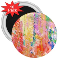 Watercolour Watercolor Paint Ink  3  Magnets (10 pack)