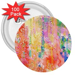 Watercolour Watercolor Paint Ink  3  Buttons (100 pack)