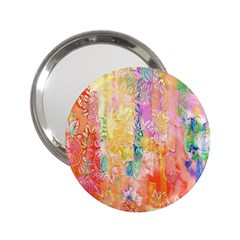 Watercolour Watercolor Paint Ink  2 25  Handbag Mirrors