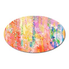 Watercolour Watercolor Paint Ink  Oval Magnet