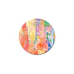 Watercolour Watercolor Paint Ink  Golf Ball Marker
